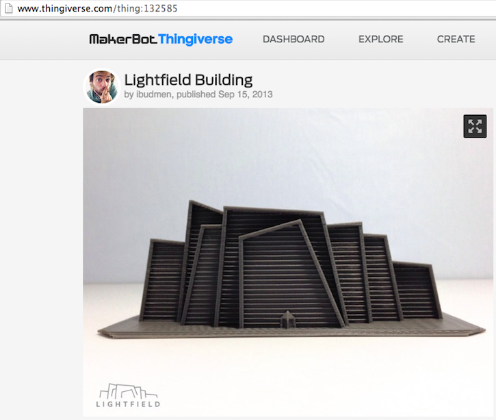 architettura 3D lightfield building