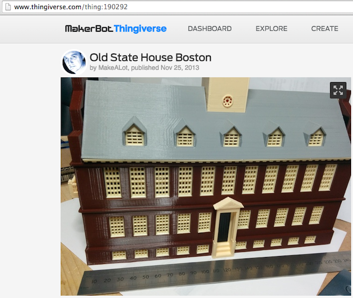 architettura 3D old state house boston